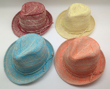 2014 new promotion cheap plain fedora straw hats,trilby hats