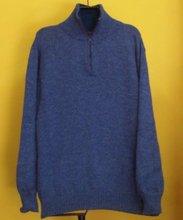 Blue Mens Alpaca Wool Sweaters With Zipper