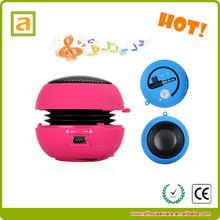 Popular unique cheap pocket usb hamburger mini promotion gift speaker mushroom speaker for iPhone iPad iPod Laptop PC MP3 Audio