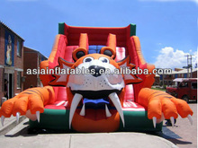 2014 Inflatable Wet or Dry Combo Slide With Pool Area for children