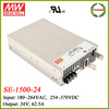Meanwell SE-1500-24 1500w switching power supply 24v 62.5a