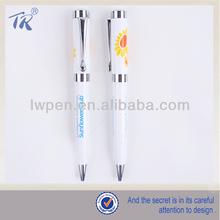 Hot Selling White Twist Open Metal Ballpoint Pen