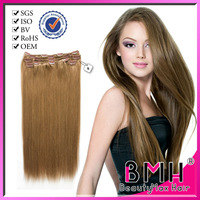 Best quality 100% remy clip hair extensions double weft wholesale