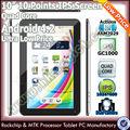Buena calidad 10 pulgadas quad core firmware 4.2 androide tablet