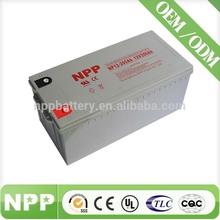 maintenance free solar Gel lead acid battery 12V 200AH