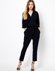 Sexy Black Jump Suit With Tie Waist -620010