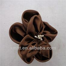 Popular silk flower ornaments for flat / high heel shoes sandle