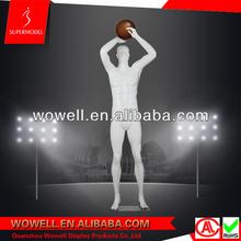 Fiberglass lifelike male basketball mannequins for sale