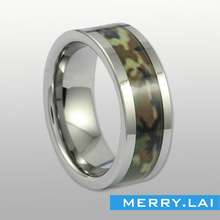 china jewelry factory produce men' ring rubber with ring customize Camouflage military ring
