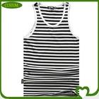 Custom the fashionable mens tank tops, 100% cotton tank top men, the striped gym singlets