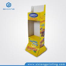 Special Design Department Store Supermarket Promotion Biscuits Cardboard Standing Advertising Display Supermarket Shelf