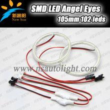 Ultra bright SMD 3014 led angel eyes kit halo ring led bulb 105mm cars headlight led angel eyes for bmw E46 2d E87