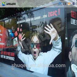 Mobile 5D movie truck cinema simulator 7D cabin theater system supplier