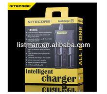 Newest Nitecore i2 charger Intellichage battery charger Multifunctional battery charger Ni-MH/Ni-Cd/aa aaa battery charger