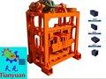 Manual de bloque hueco de hormigón de la máquina de moldeo para la venta qtj40b2( tianyuan marca)