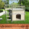 Indoor Outdoor Dog Cat Pet House View Wood Small Kennel Crate Cage Shelter Roof DFD3008