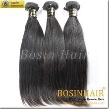 Top quality 6A virgin brazilian straight hair weave bundles