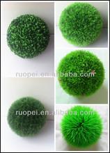 2014 yiwu Mini artificial grass ball Christmas decor