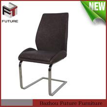 Antigo de luxo couro marrom cadeiras da sala de jantar