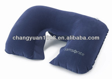 Hot sale good quality fashion popular pvc flocking travel air pillow