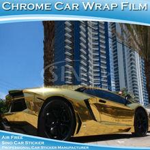 1.52x30M Shining Chrome Mirror Glod Car Decoration Sticker Film