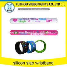 colorful eco-friendly silicon slap bracelet usb for event
