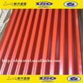 Venda quente!!! Galvanizado ondulado folha de coberturas metálicas