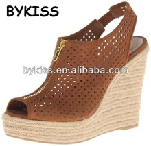 woman wedges sandals cover hemp rope sandals