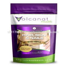 Silica Formula 500mg ( Hair, Skin and Nails ) Capsules Volcanat Health Premium Foil Pack