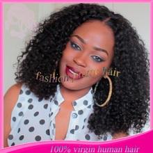 Fashion short kinky curly u part wig human hair Brazilian virgin hair U part wigs for black women instock