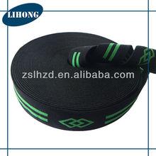 38mm black jaquard nylon elastic band for underwear