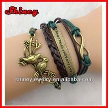 leather charm jewelry,novelty energy silicon charm bracelet 2014