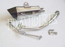 Racing Motorbike/Superbike Oblique Hexagonal Stainless Steel Muffler
