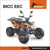 EEC road legal kids 50cc ATV racing quad