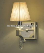 E14 3W led changeable matt white string shade crystal wall lamp corner wall lights