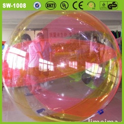 Top selling durable colocrful transparent giant inflatable clear water ball