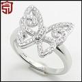 la promoción 2014 recién llegados de oro blanco anillo de boda de las mujeres de la moda de joyería de mariposa cz anillos pavimentadas