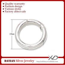 XD P327 Wholesale 3mm 925 Sterling Silver Spring Clip Claps for Bracelet Necklace