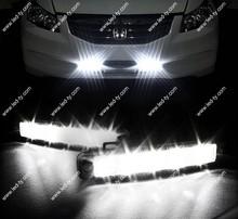 LED Super White Car Driving Lamp Fog 12v Universal 2X Drl Daytime Running Light