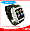 "1.54"" Touch Screen 1.3MP Camera TF GSM SIM Card Slot Bluetooth Anti-lost Smart Wrist TW530 hand watch mobile phone price"