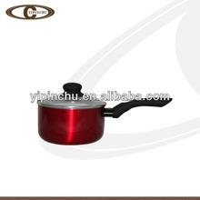 Aluminum induction milk pan /milk pot with metal coating
