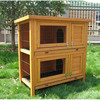 Wooden 2 story rabbit hutches with tray RH032