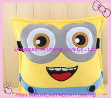 custom cute plush cartoon cushion ,stuffed cushion
