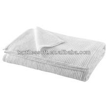luxury pure cotton beautifully textured white jacquard hand towel
