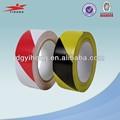 Negro& amarilla de precaución de peligro de pvc y cinta de barrera de fuente de la f&