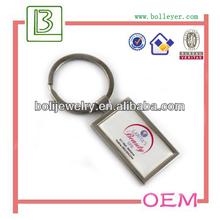 Custom Metal Logo Epoxy Resin Domed blank keyring