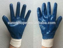 Cotton liner nitrile coated work gloves