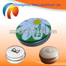 Hot sale Round cosmetic Aluminum jar Empty tins