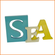 2015 Wholesale SEA Letter Wooden Craft For Home Decoration