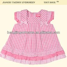 baby printing and yarn dye woven poplin dress